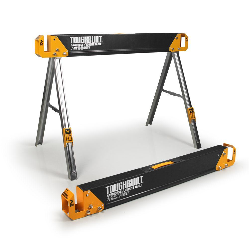 28.54 in. T Adjustable Folding Sawhorse