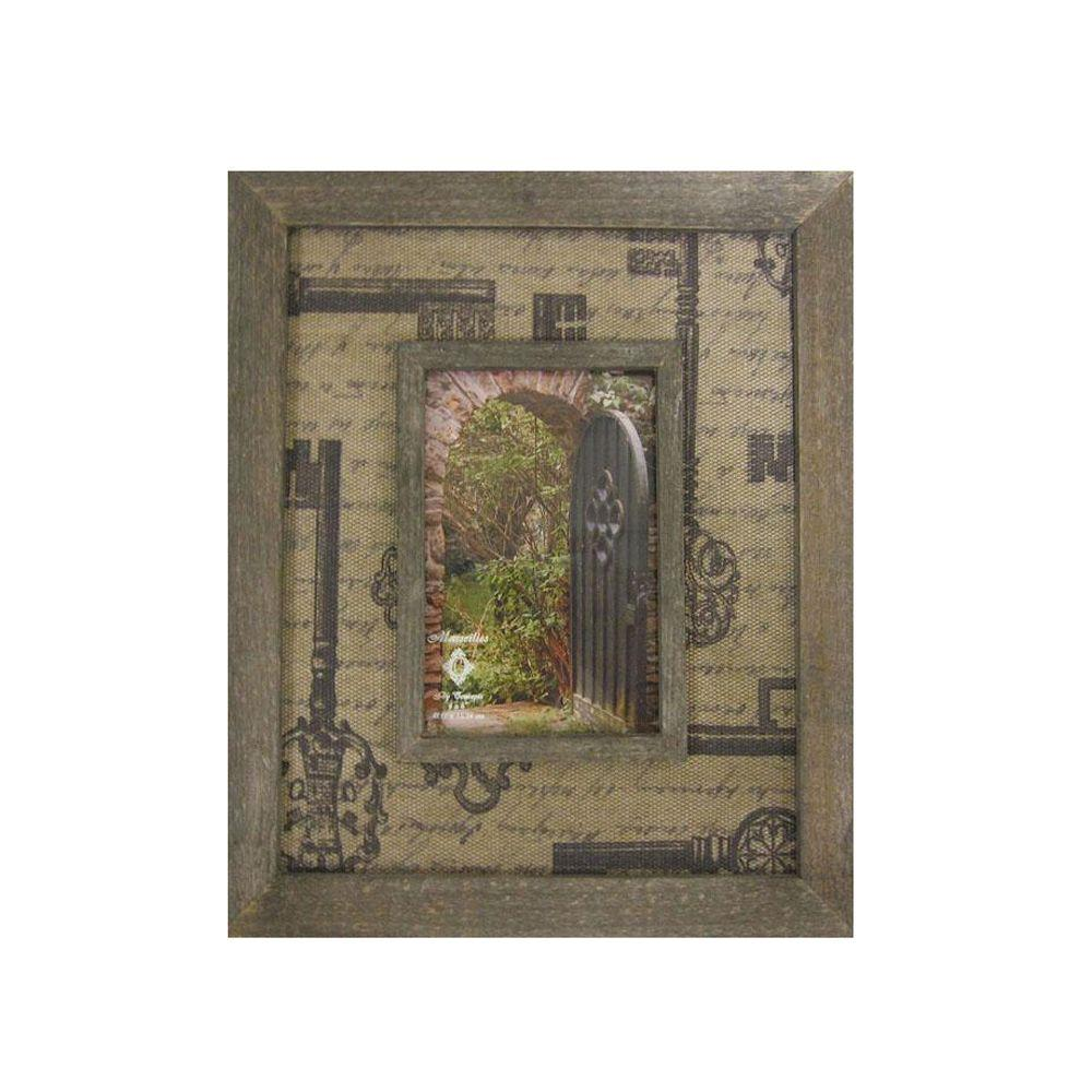 Home Decorators Collection 4 in. x 6 in. Marsilles Natural Key Design Picture Frame
