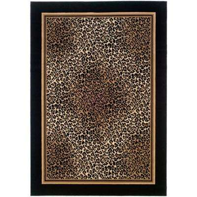 Everest Leopard Ivory-Black 2 ft. x 3 ft. 7 in. Area Rug
