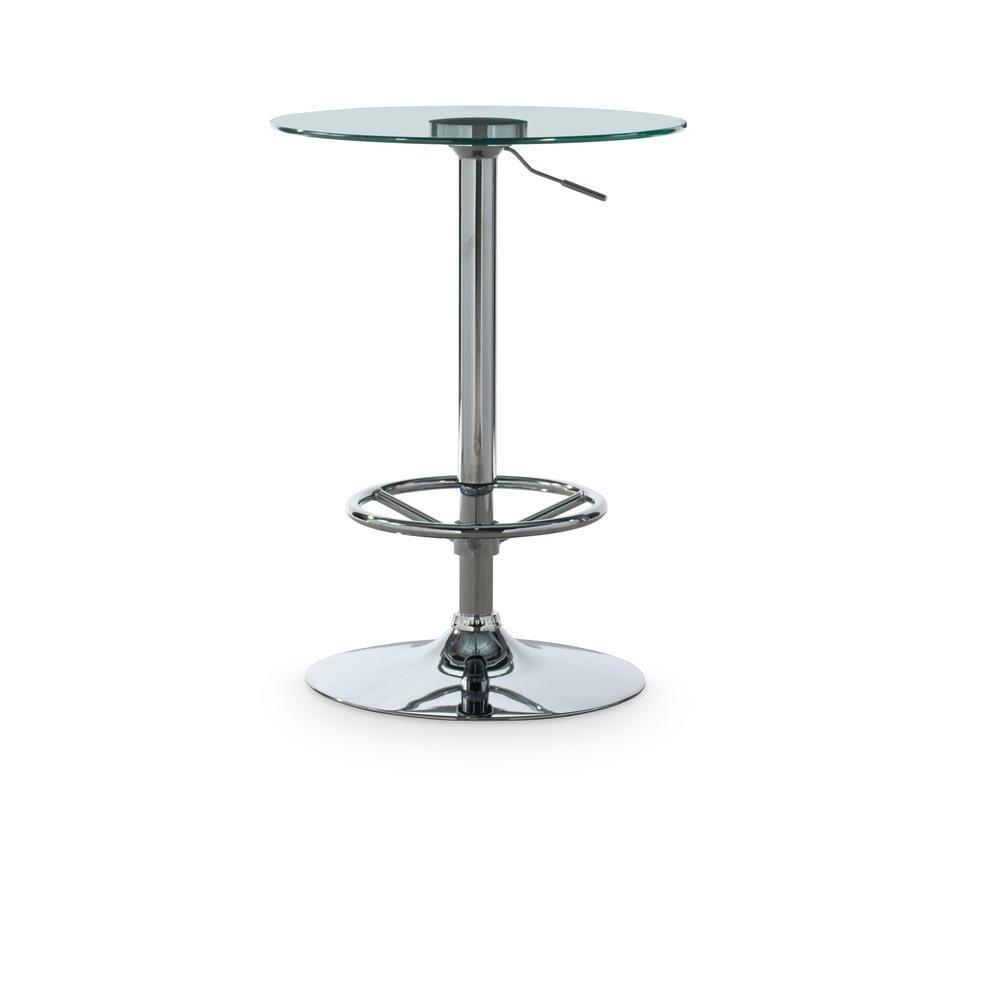 Newbern Chrome Pub Table