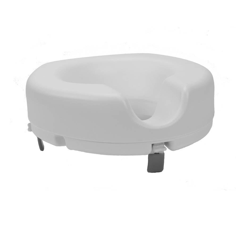 null Roscoe Medical Locking Raised Toilet Seat without Arms-DISCONTINUED