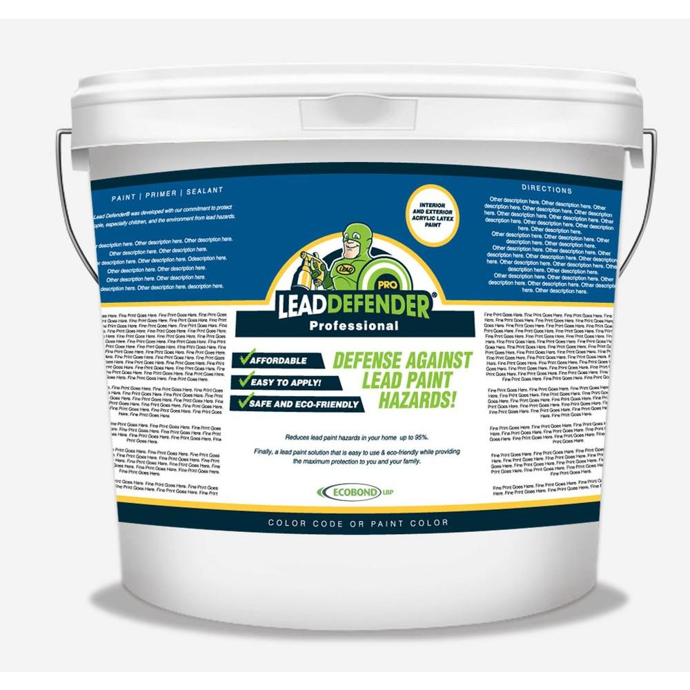 ECOBOND LBP 5 gal. Lead Defender PRO Off White Flat Interior/Exterior Paint and Primer Lead Paint Sealant and Treatment
