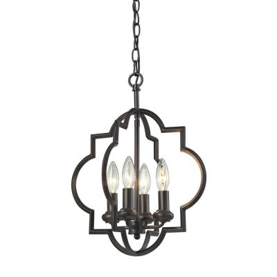 Chandette 4-Light Oil Rubbed Bronze Pendant