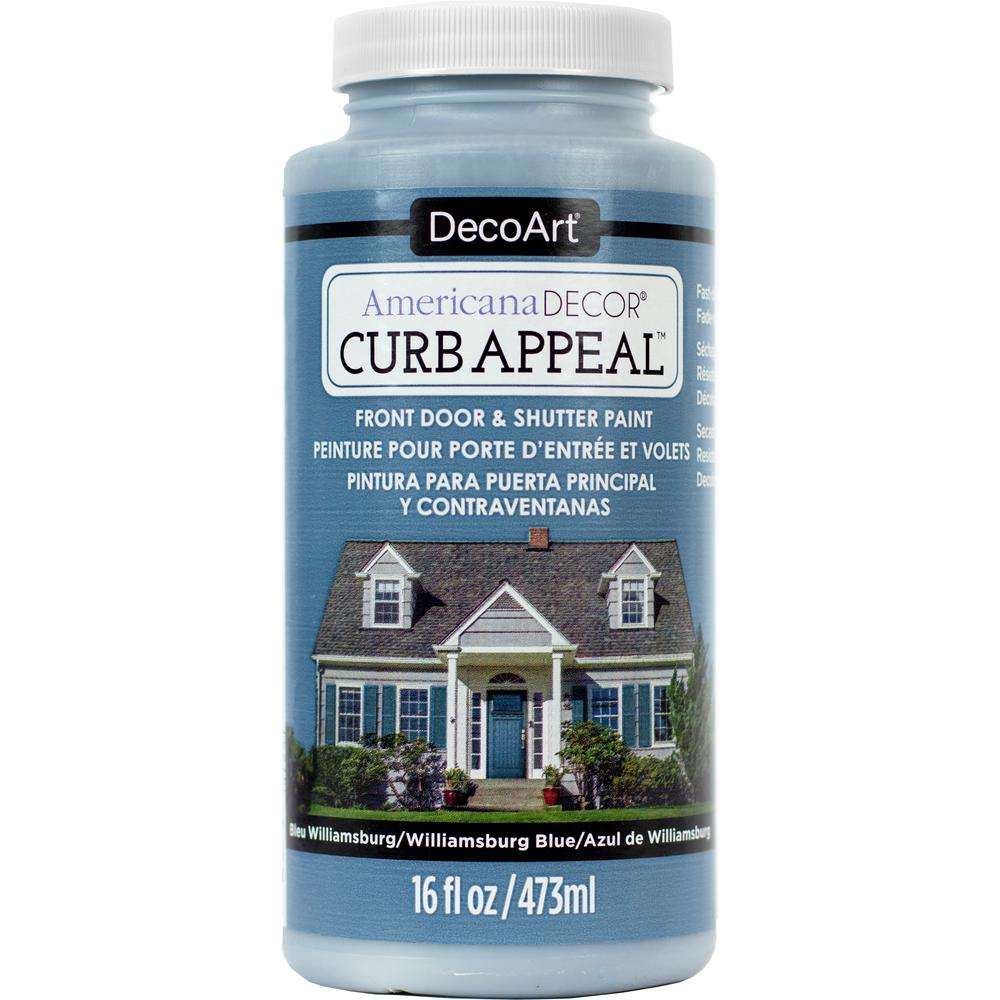 Americana Decor Curb Appeal 16 oz. Williamsburg Blue Paint-ADCA16-65 ...