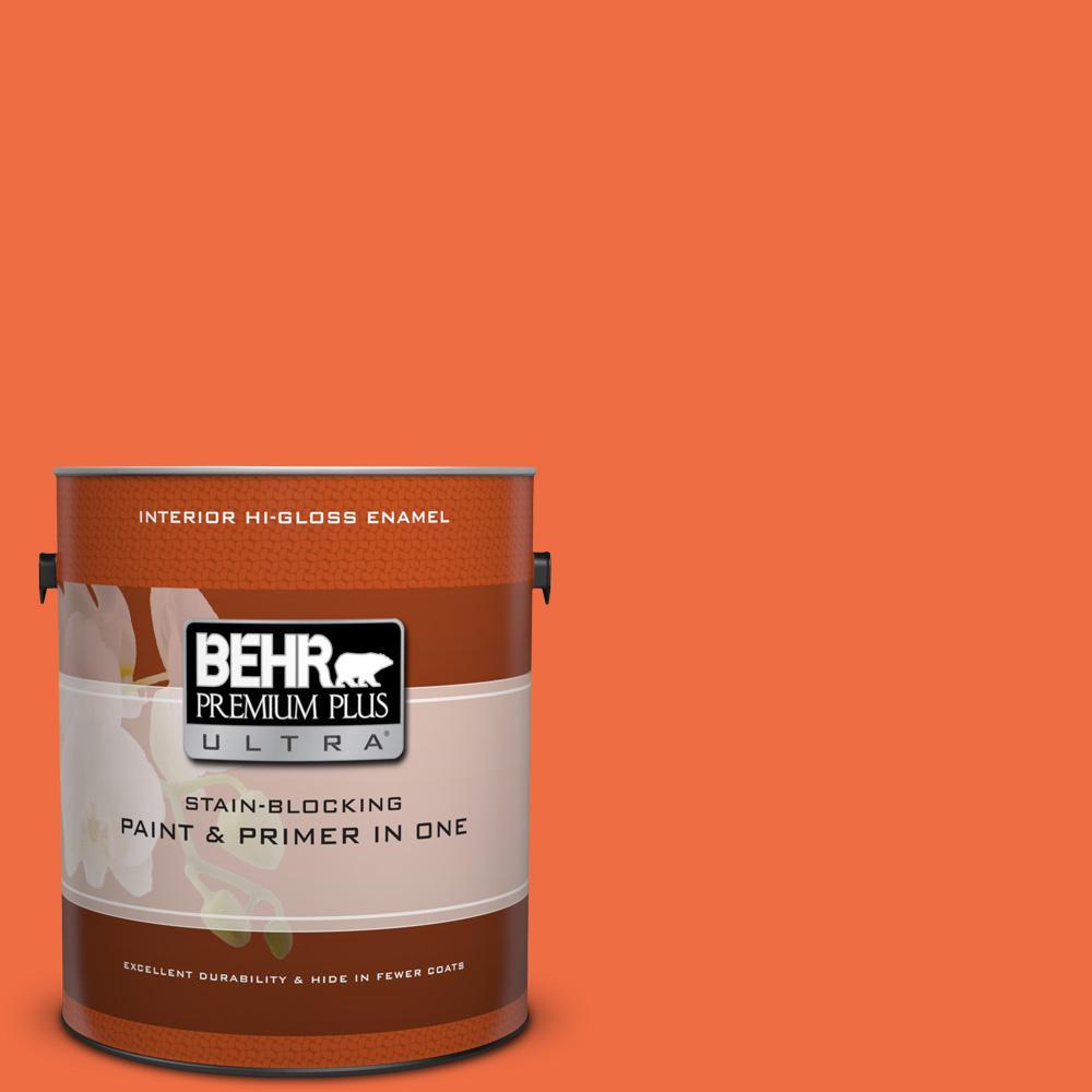 1 gal. #210B-6 Aurora Orange Hi-Gloss Enamel Interior Paint