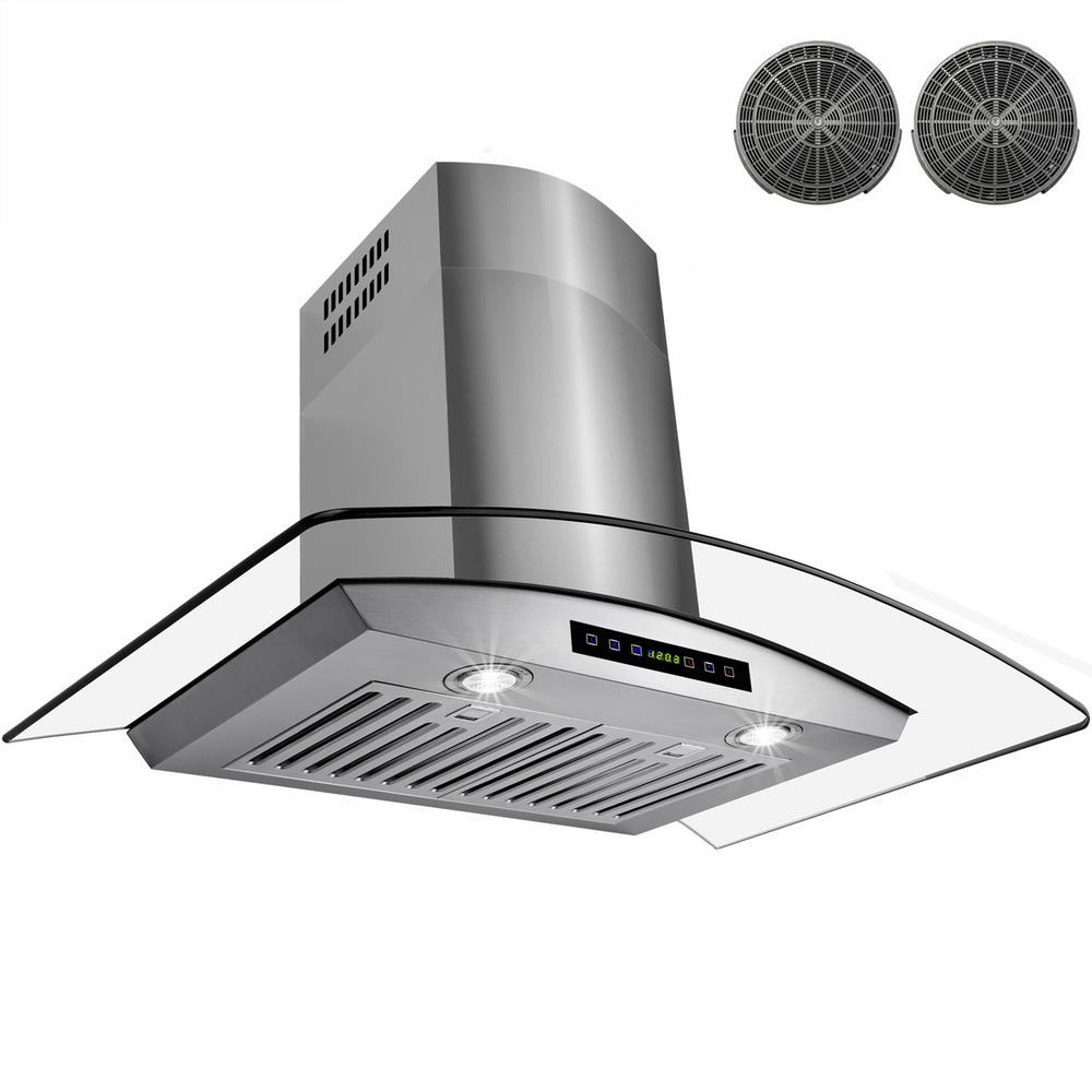AKDY 36 in. Convertible Wall Mount Range Hood in Stainles...