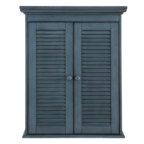Cottage 23-5/8 in. x 29-1/8 in. Wall Cabinet in Harbor Blue