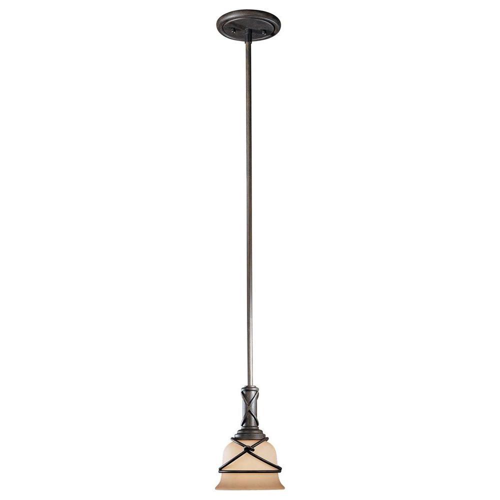 Minka Lavery Aspen 1 Light Bronze Mini Pendant 977 1 138
