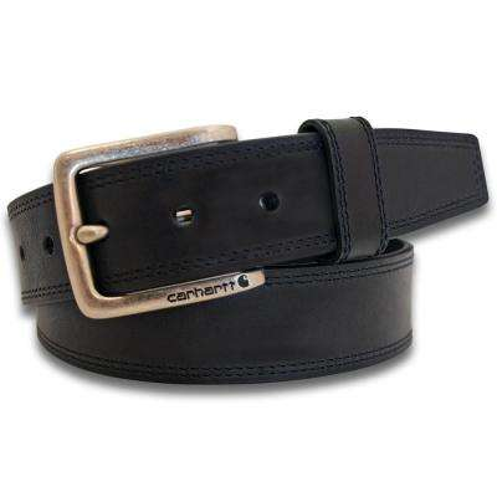 Men's Size 38 Black Leather Hamilton Belt