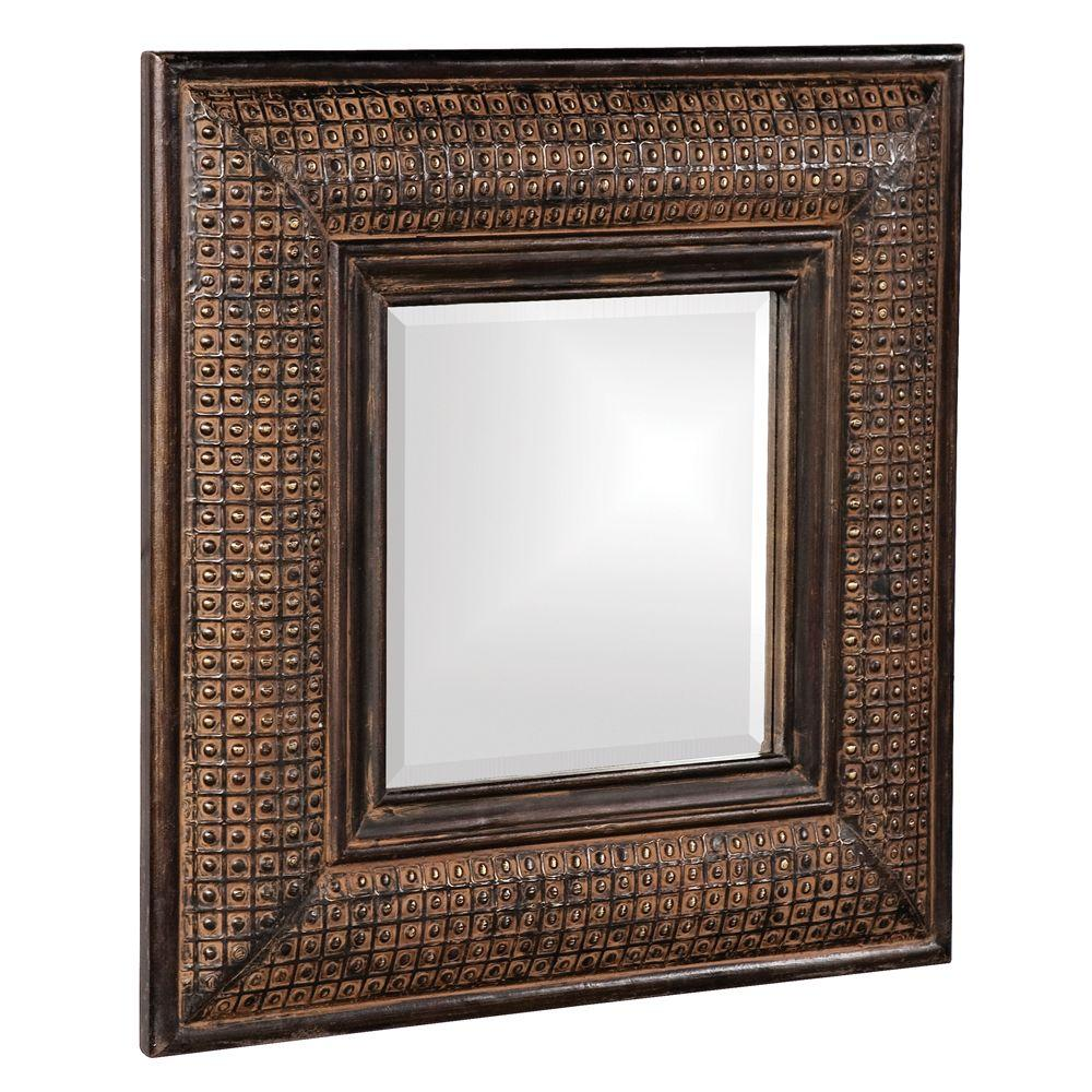 Lydia Square Mirror With Candle Holder 99075 The Home Depot