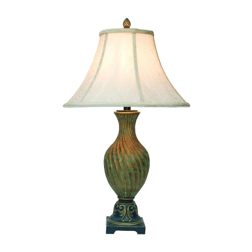 Ok Lighting 29 In Antique Br Table Lamp