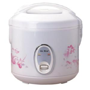 4-Cup White Rice Cooker with Steamer Tray and Air-Tight Lid
