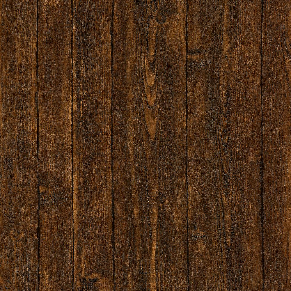 Brewster ardennes faux dark brown wood panel wallpaper 412 for Brewster wallcovering wood panels mural