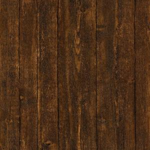 Click here to buy Brewster Ardennes Faux Dark Brown Wood Panel Wallpaper by Brewster.