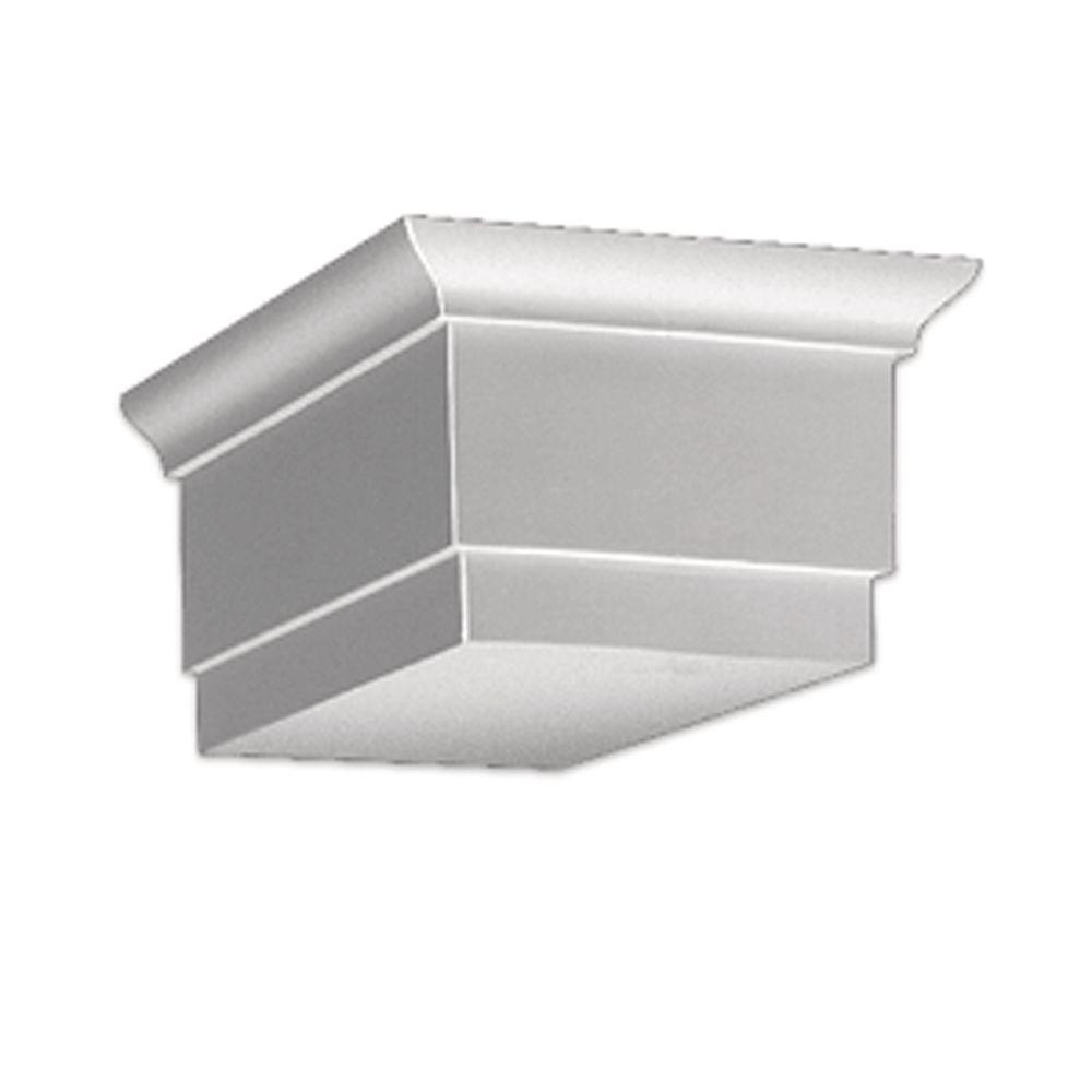 Fypon 6 in x 9 1 4 in x 15 in polyurethane dentil block for Fypon dentil molding