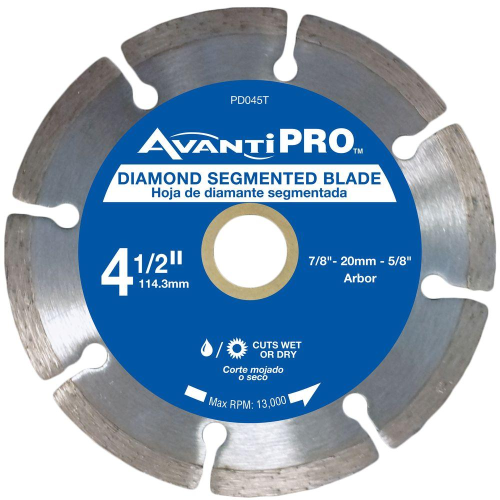 Avanti Pro 4 5 In Segmented Diamond Blade Hd S45s8 The