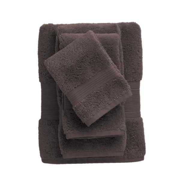 The Company Store Legends Regal Bark Solid Egyptian Cotton Wash Cloth (Set of 2)