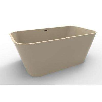 Summerlin 5 ft. Acrylic Flatbottom Non-Whirlpool Freestanding Bathtub in Almond