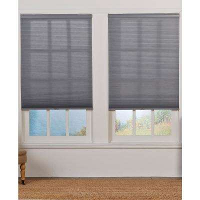 Cut-to-Width Gray 1.5 in. Light Filter Cordless Double Cellular Shade - 70.5 in. W x 72 in. L