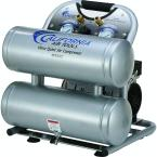 4610AC Ultra Quiet and Oil-Free 1.0 Hp, 4.6 Gal. Aluminum Twin Tank Electric Portable Air Compressor