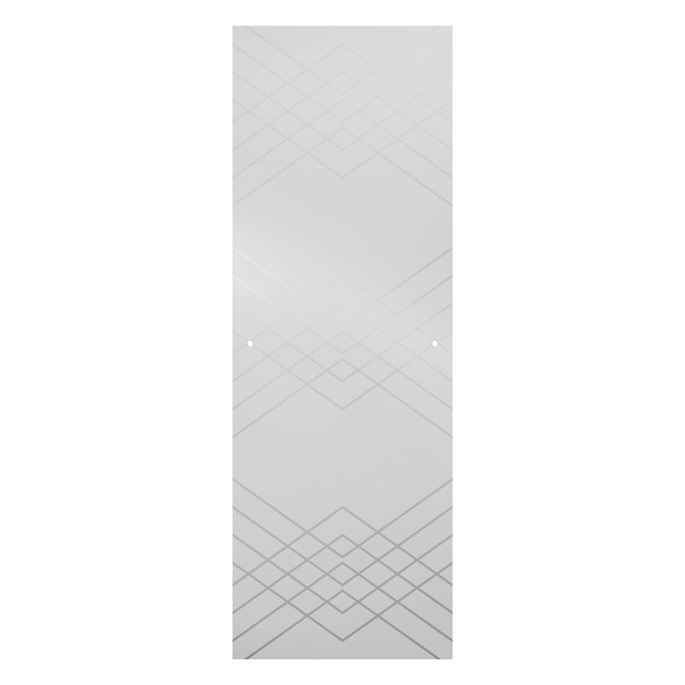 48 in. Sliding Shower Door Glass Panels in Argyle (1-Pair)