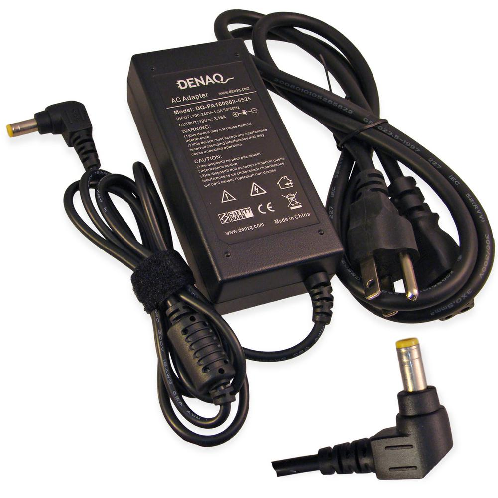 19-Volt 3.16 Amp 5.5 mm-2.5 mm AC Adapter for ACER TravelMate
