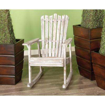 Rustic Rocking Chair in Distressed Wood