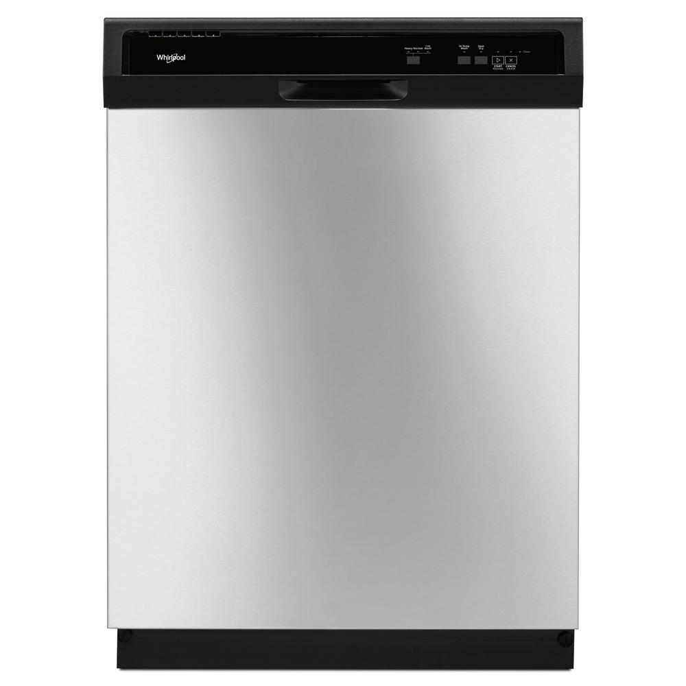 Whirlpool 24 in. Front Control Built-In Tall Tub Dishwasher in ...