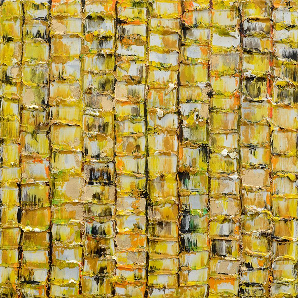 Yosemite Home Decor 24 in. x 24 in. Primary Textures II Hand Painted Contemporary Artwork-DISCONTINUED