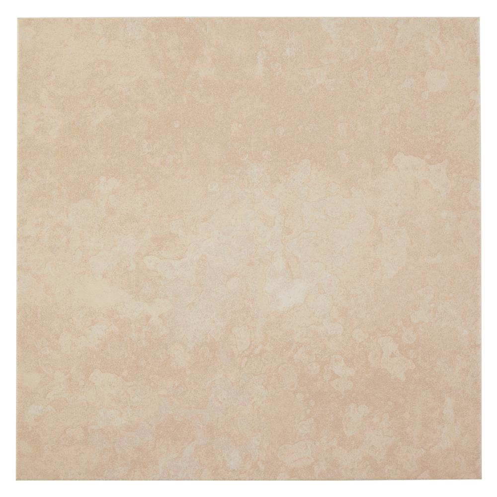 Trafficmaster Sanibel White 16 In X Ceramic Floor And Wall Tile