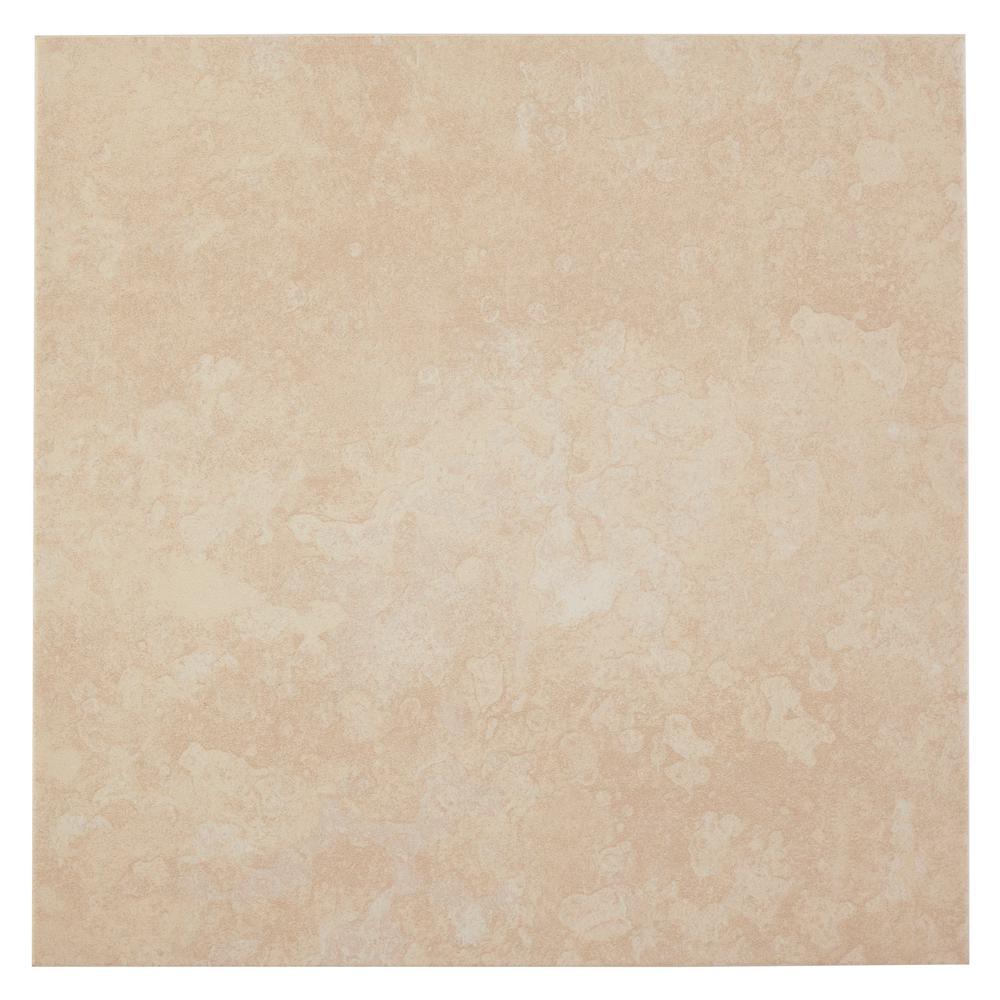 TrafficMASTER Sanibel White In X In Ceramic Floor And Wall - 16 x 16 white ceramic floor tile