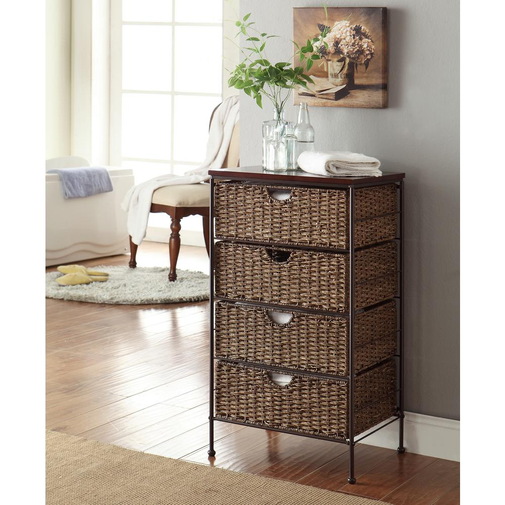 4D Concepts Farmington Corn Husk Weave 4-Drawer Chest
