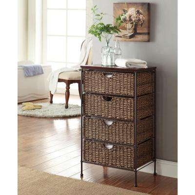 Farmington Corn Husk Weave 4-Drawer Chest