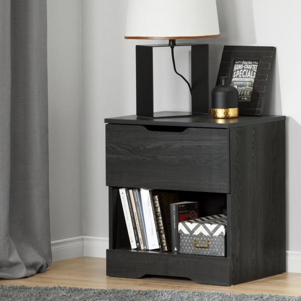South Shore Holland 1-Drawer Nightstand, Gray Oak 10397