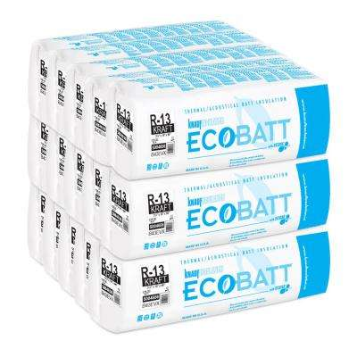 R-13 Kraft-Faced Fiberglass Insulation EcoBatt 3-1/2 in. x 16 in. x 96 in. (15-Bags)