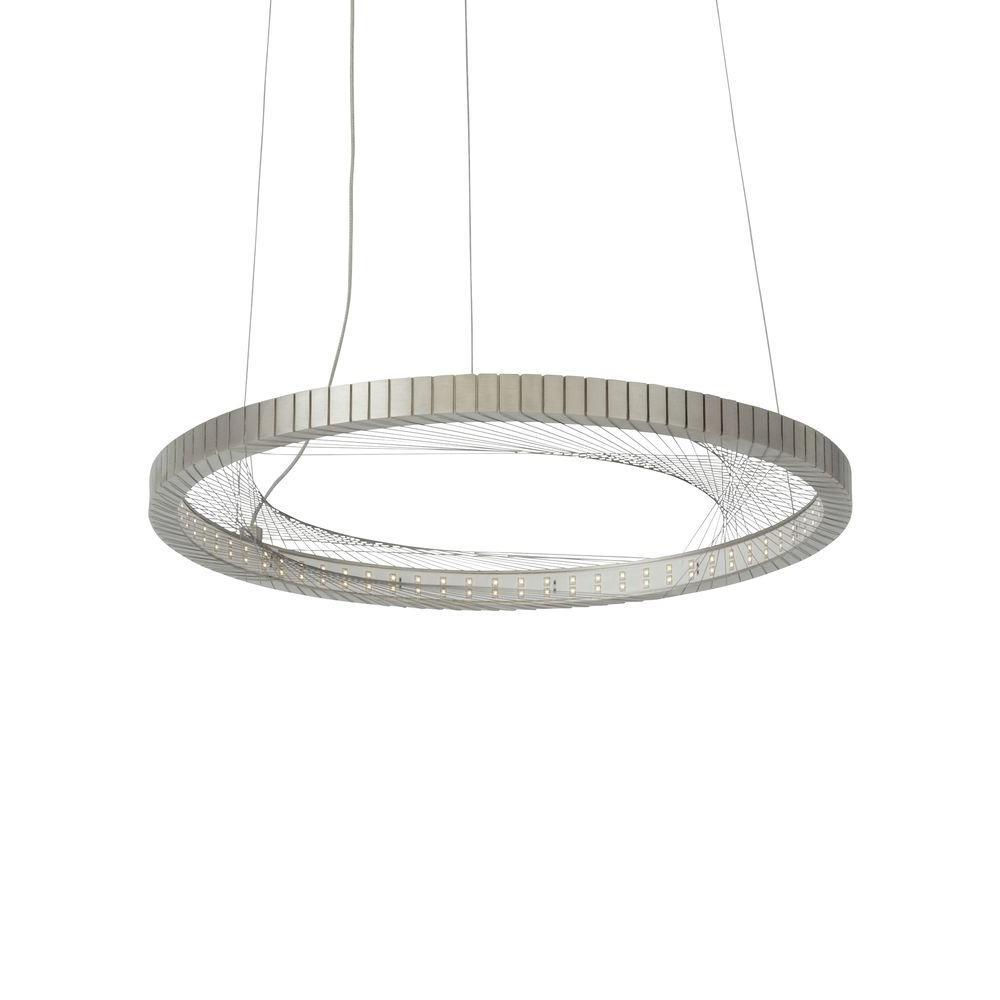 0b5df01d4bfd LBL Lighting Interlace 18 in. Satin Nickel LED Chandelier Shade ...