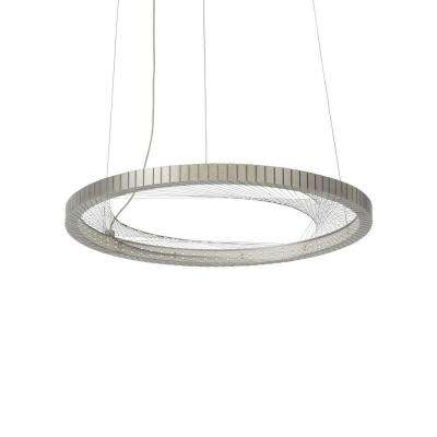 Interlace 18 in. Satin Nickel LED Chandelier Shade