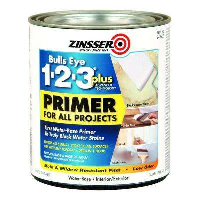 1-qt. Bulls Eye 1-2-3 Plus Interior/Exterior Water-Based Primer (Case of 6)