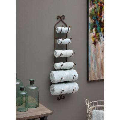 Rustic Towel/Wine Rack Brown Towel and Quilt Rack