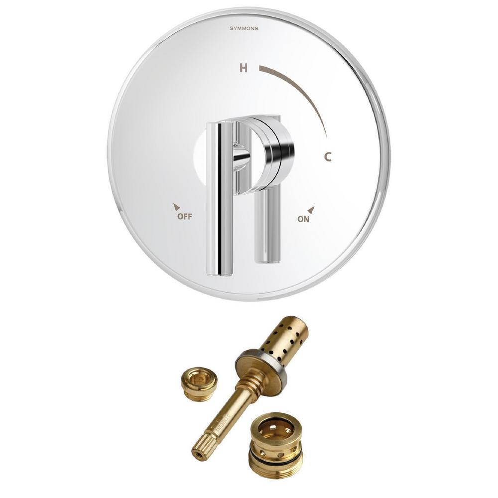 Symmons Dia Rebuild 1-Handle Tub and Shower Faucet Trim Kit in ...