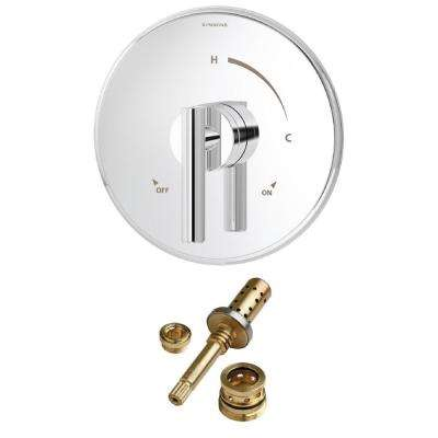 Dia Rebuild 1-Handle Tub and Shower Faucet Trim Kit in Chrome (Valve Not Included)