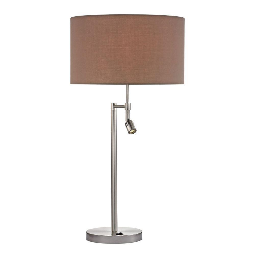 Titan Lighting Beaufort 28 In Satin Nickel Table Lamp With
