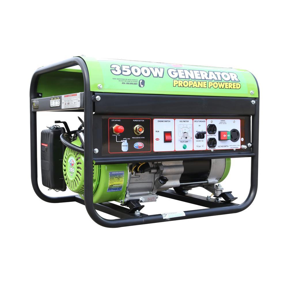 2800-Watt Recoil Start Propane Powered Portable Generator with Jiang Dong Engine