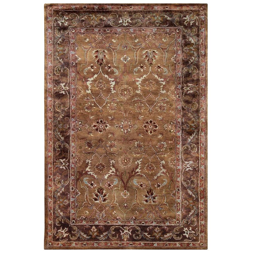 linon home decor rosedown collection caper and sepia 8 ft x 10 ft indoor area rug rug slsg2681. Black Bedroom Furniture Sets. Home Design Ideas