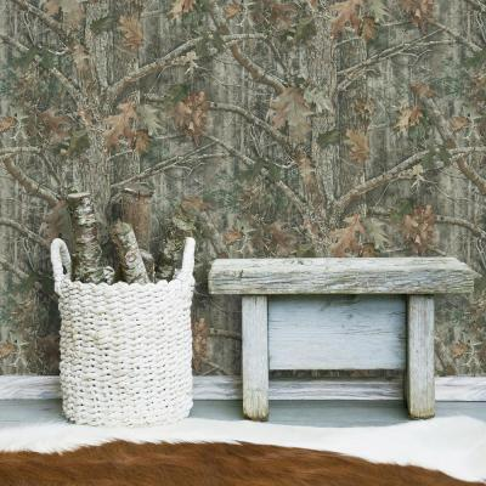 28.18 sq. ft. Kanati Camo Peel and Stick Wallpaper