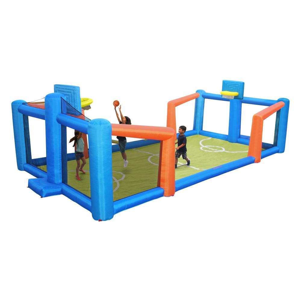 Sportspower Fly Slama Jama Inflatable Basketball Court, M...