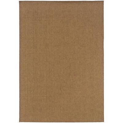 Sanibel Dark Natural 4 ft. x 6 ft. Indoor/Outdoor Area Rug