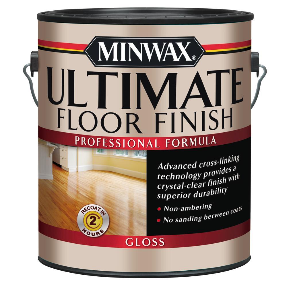Minwax 1 Gal. Ultimate Hardwood Floor Finish Clear Gloss Interior