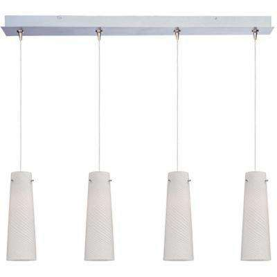 Sprial 4-Light RapidJack Pendant and Canopy
