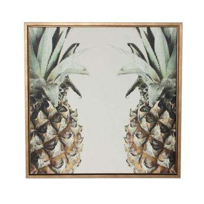 "Sylvie ""Pineapple"" by F2Images Framed Canvas Wall Art"